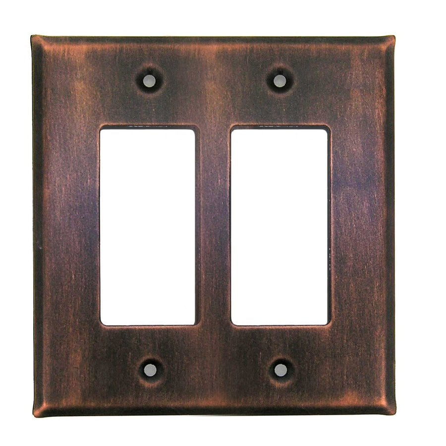 Anne at Home 2-Gang Antique Copper Double Decorator Wall Plate
