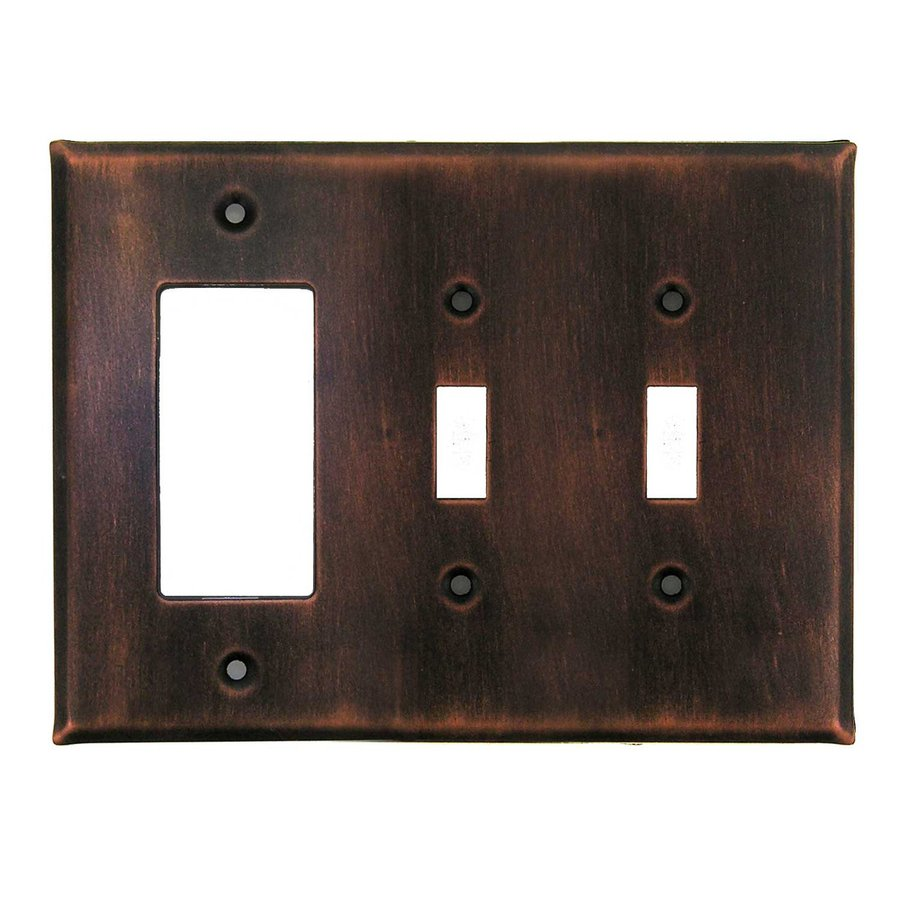 Anne at Home 3-Gang Antique Copper Triple Toggle/Decorator Wall Plate