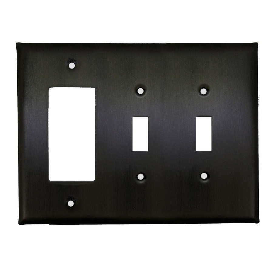 Anne at Home 3-Gang Bronze with Black Wash Triple Toggle/Decorator Wall Plate