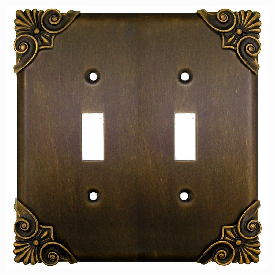 Anne at Home 2-Gang Rubbed Bronze Double Toggle Wall Plate