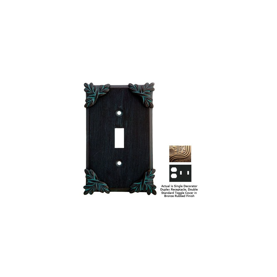 Anne at Home Sonnet 3-Gang Bronze Rubbed Combination Pewter Wall Plate