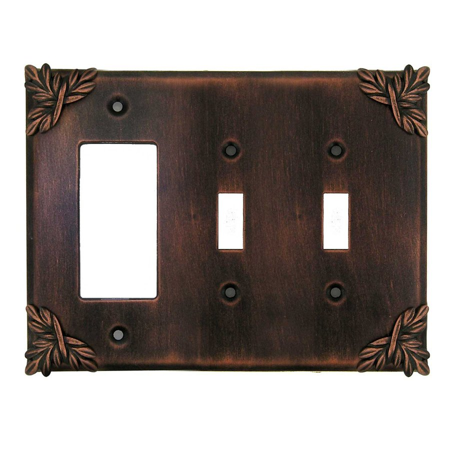 Anne at Home 3-Gang Rubbed Bronze Triple Toggle/Decorator Wall Plate