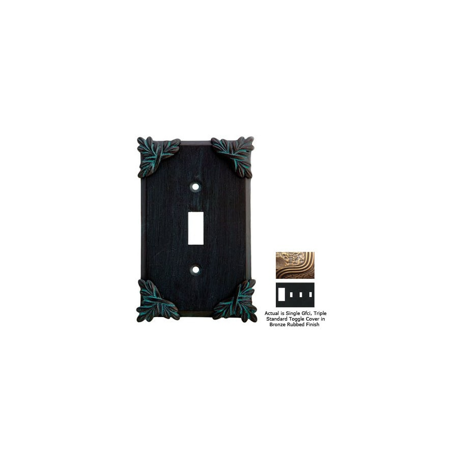 Anne at Home Sonnet 4-Gang Bronze Rubbed Combination Pewter Wall Plate