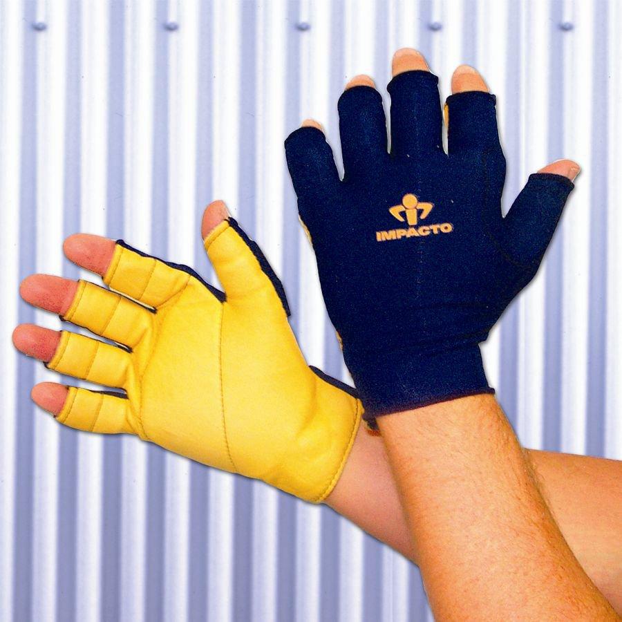 Impacto Large Unisex Leather Palm Work Gloves