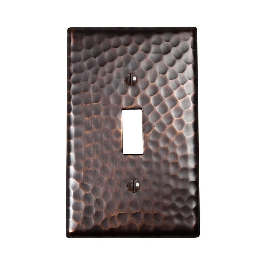 The Copper Factory Artisan 1-Gang Antique Copper Single Toggle Wall Plate