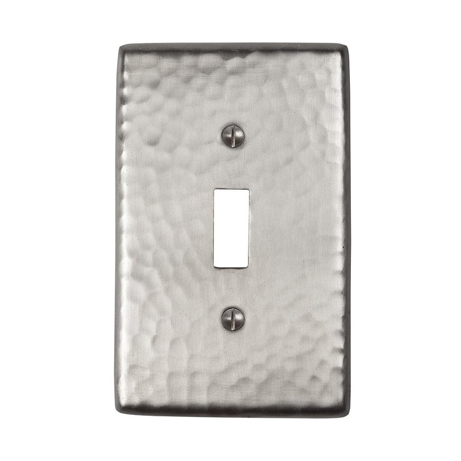The Copper Factory Artisan 1-Gang Satin Nickel Single Toggle Wall Plate