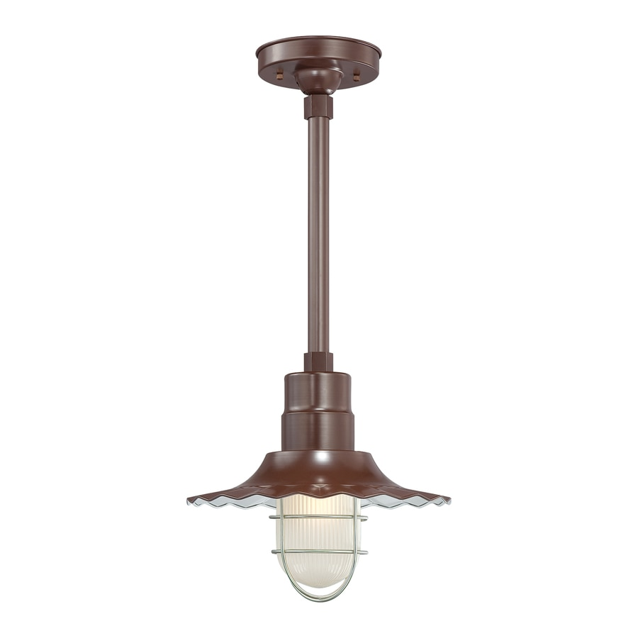 Millennium Lighting R Series 11.25-in H Bronze Outdoor Pendant Light
