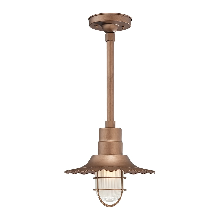Millennium Lighting R Series 11.25-in H Copper Outdoor Pendant Light