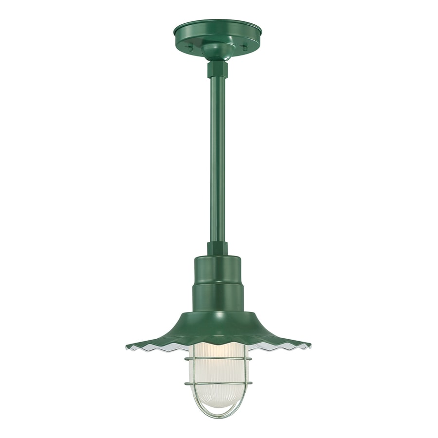 Millennium Lighting R Series 11.25-in H Green Outdoor Pendant Light
