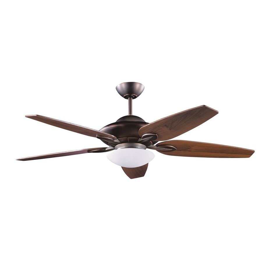 Kendal Lighting Treville 52-in Architectural Bronze Downrod Mount Indoor Ceiling Fan with Light Kit and Remote (5-Blade)