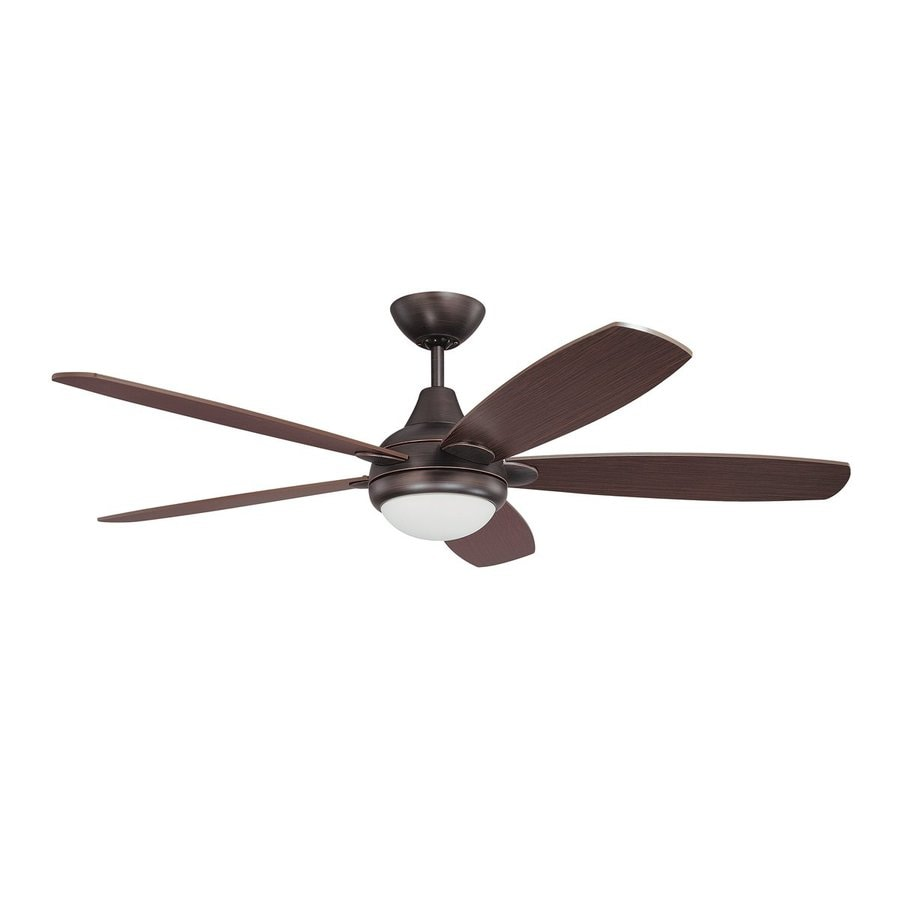 Kendal Lighting Espirit 52-in Copper Bronze Downrod Mount Indoor Ceiling Fan with Light Kit and Remote (5-Blade)