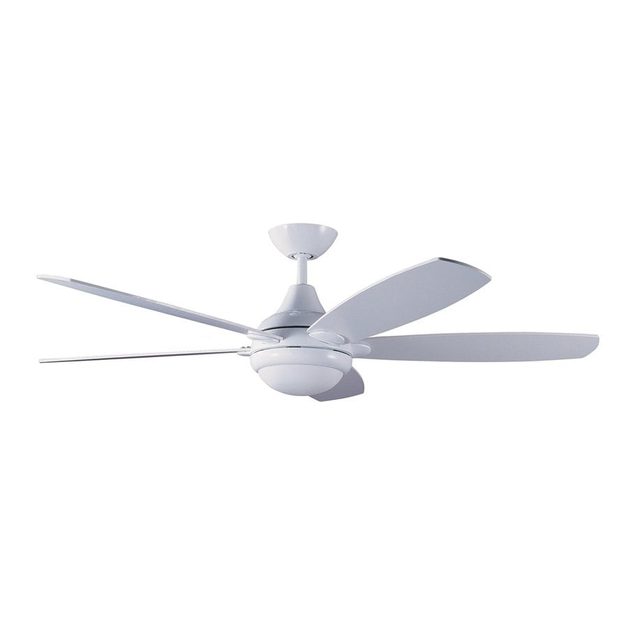 Kendal Lighting Espirit 52-in White Downrod Mount Indoor Ceiling Fan with Light Kit and Remote (5-Blade)