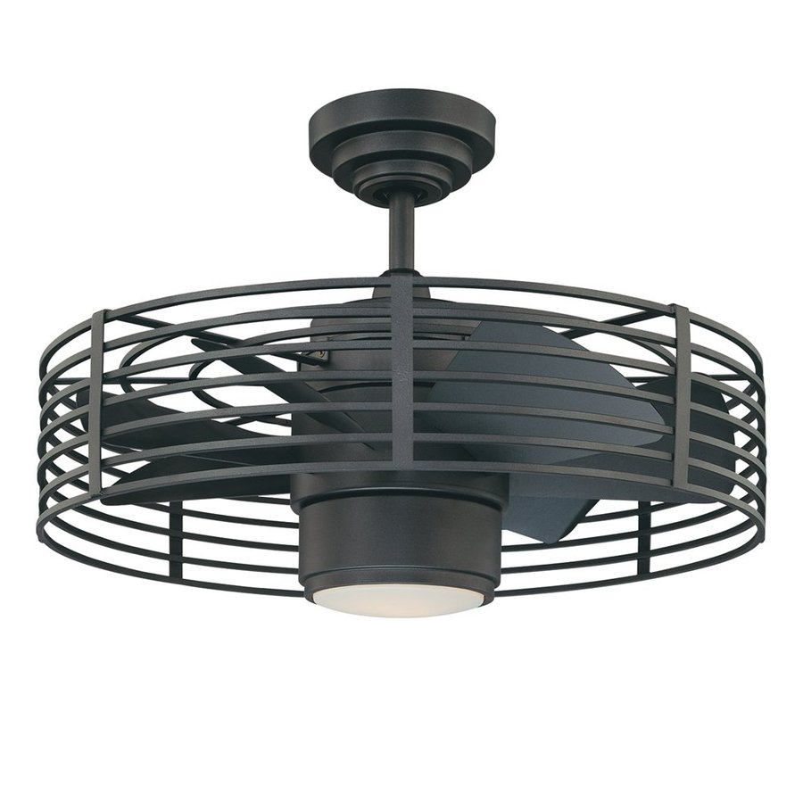 Kendal Lighting Enclave 23-in Natural Iron Downrod Mount Indoor Ceiling Fan with Light Kit and Remote (7-Blade)