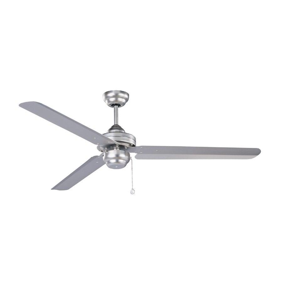 Kendal Lighting Studio 54 54-in Brushed Steel Downrod Mount Indoor Ceiling Fan (3-Blade) ENERGY STAR