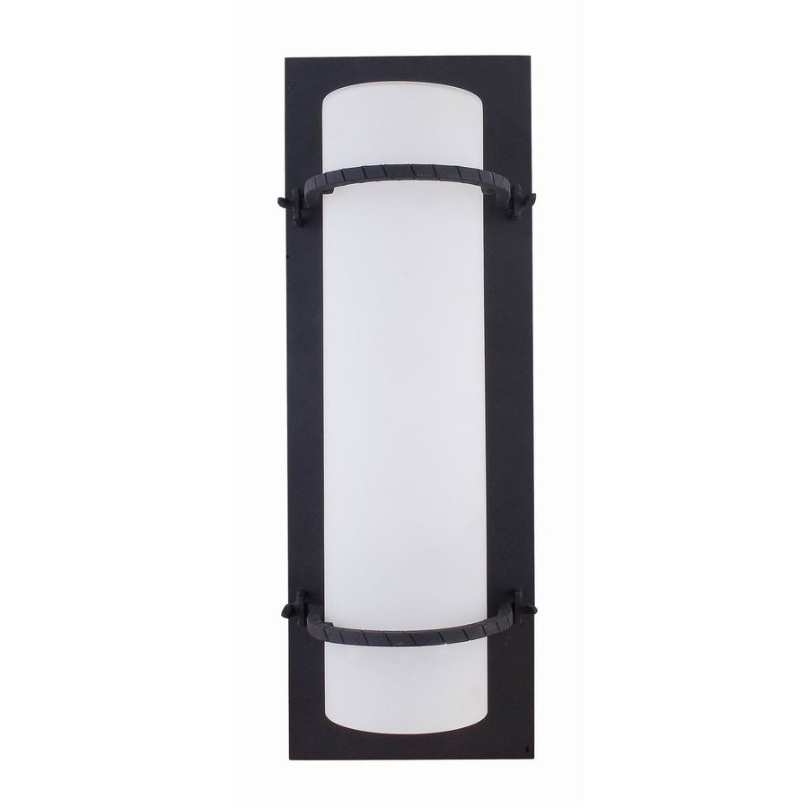 Whitfield Lighting 12-in H Black Outdoor Wall Light ENERGY STAR