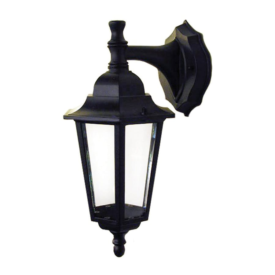 shop whitfield lighting 14 in h black outdoor wall light at. Black Bedroom Furniture Sets. Home Design Ideas