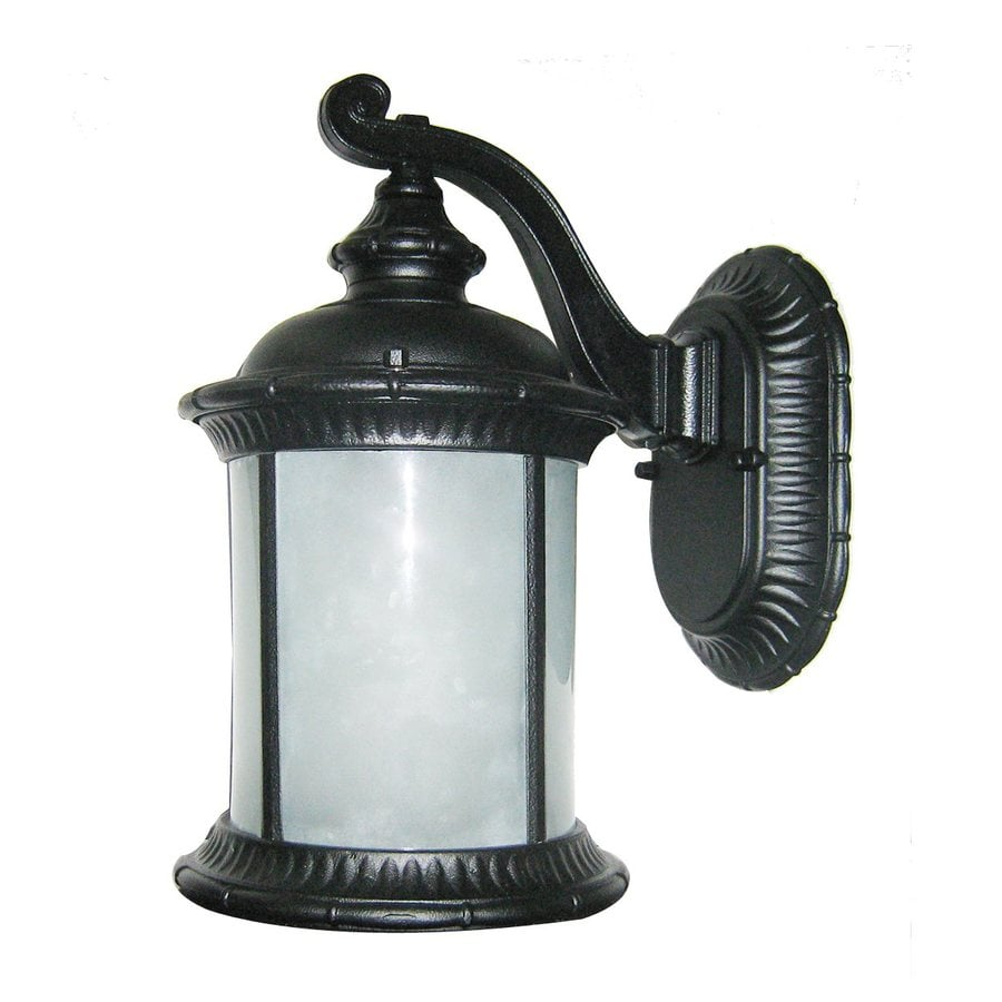 Whitfield Lighting 16-in H Black Outdoor Wall Light