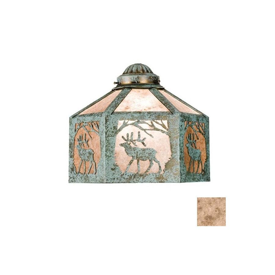 Meyda Tiffany 1-Light Verdi Ceiling Fan Light Kit with Silver Mica Glass