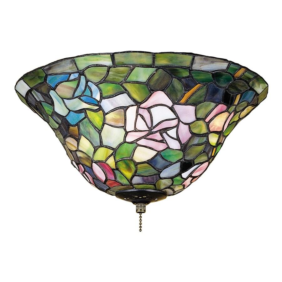 Meyda Tiffany Rosebush 3-Light Mahogany Bronze Incandescent Ceiling Fan Light Kit