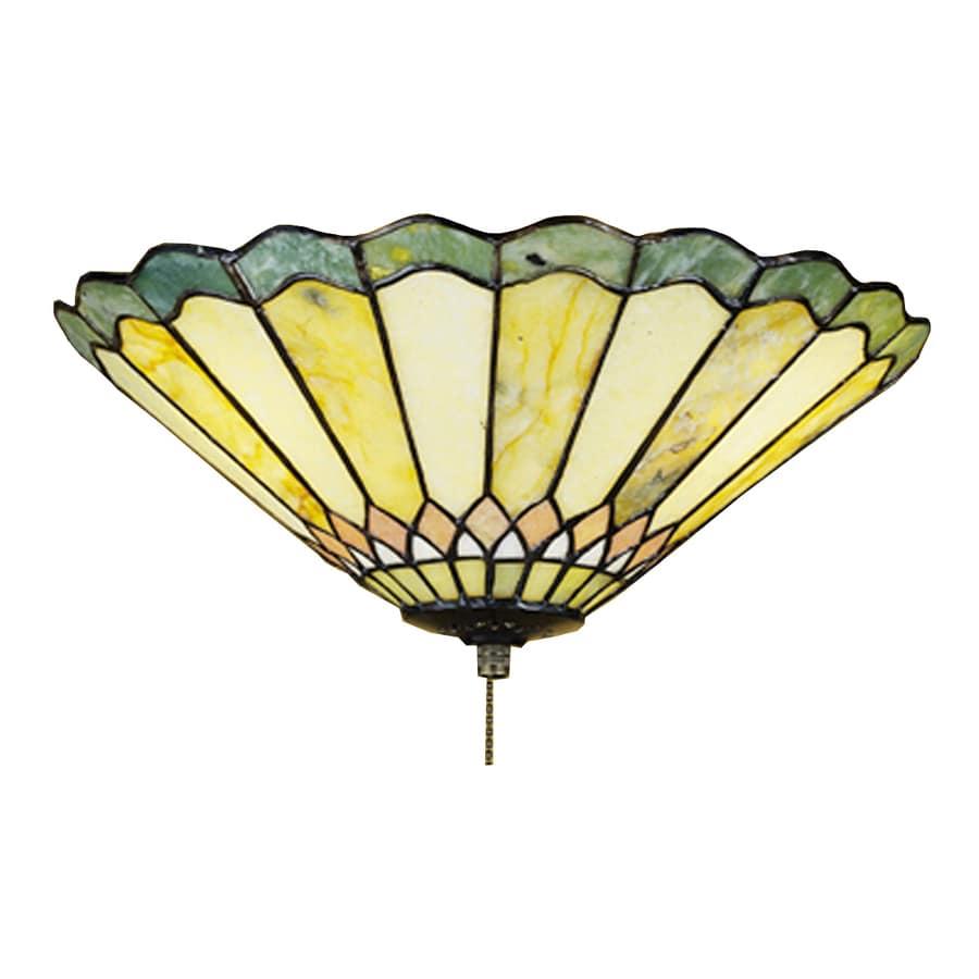 Meyda Tiffany Jadestone Carousel 3-Light Mahogany Bronze Incandescent Ceiling Fan Light Kit