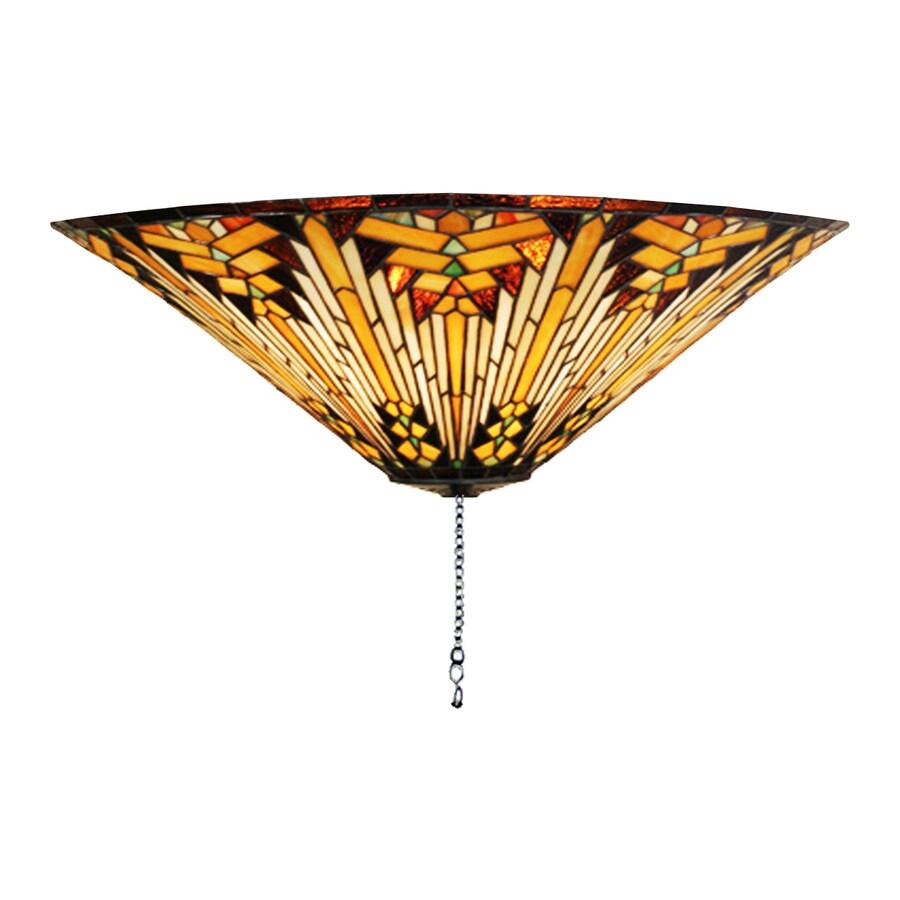 Meyda Tiffany Nuevo Mission 3-Light Mahogany Bronze Incandescent Ceiling Fan Light Kit
