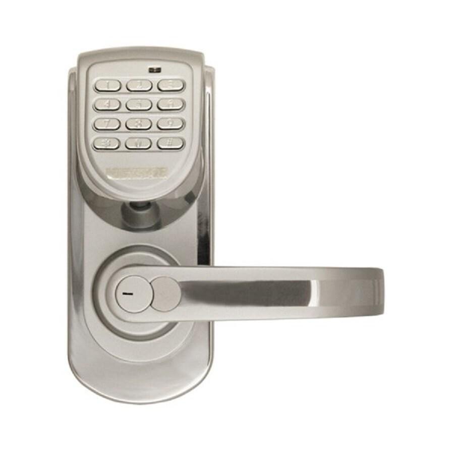 Lockstate LS Silver Single-Cylinder Motorized Electronic Entry Door Handleset