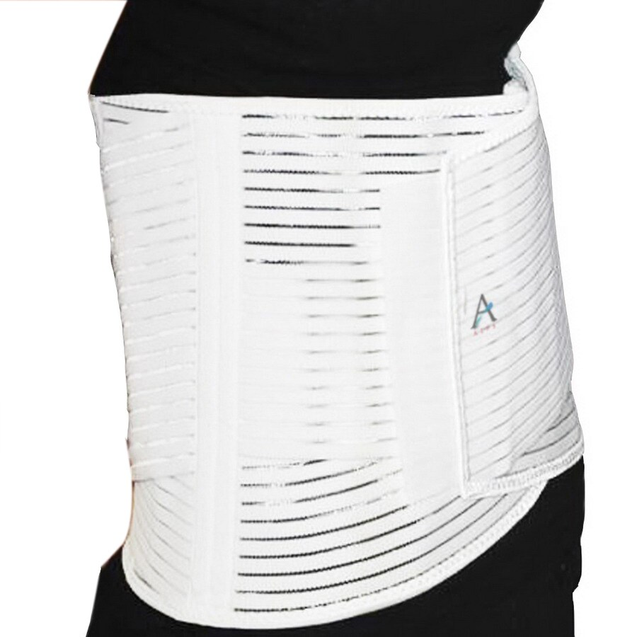 Alps South White Elastic Support Small Back Brace