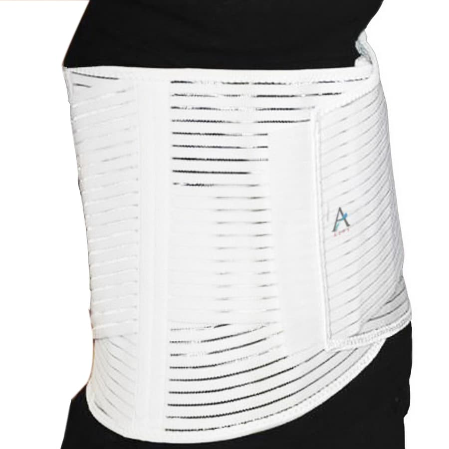 Alps South White Elastic Support XL Back Brace
