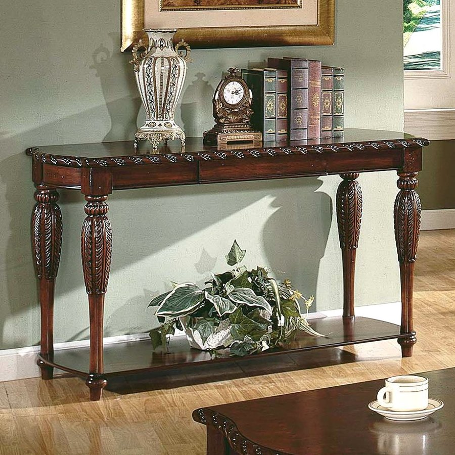 Steve Silver Company Antoinette Rich Cherry Rectangular Console and Sofa Table