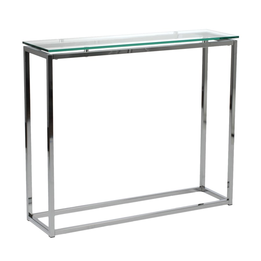 Eurostyle Sandor Clear/Chrome Rectangular Console and Sofa Table