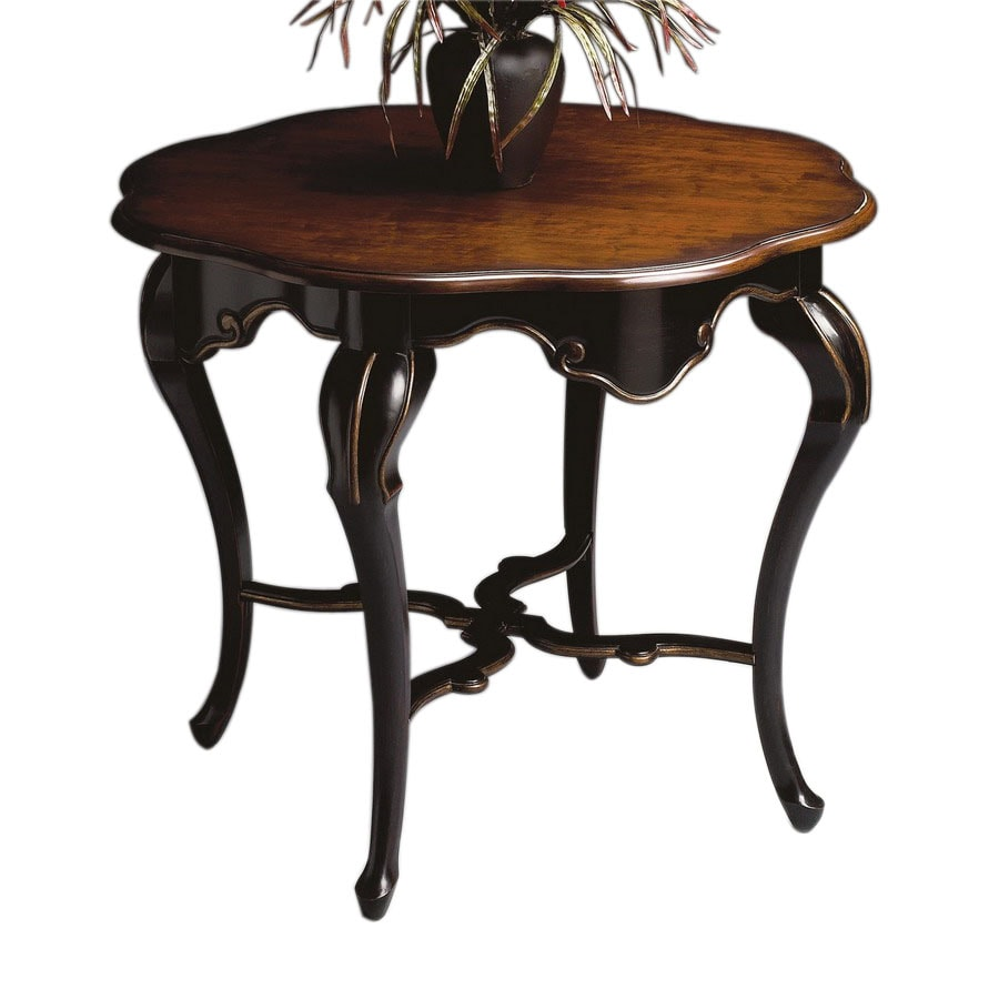 Shop butler specialty cafe noir round console and sofa - Table console noire ...