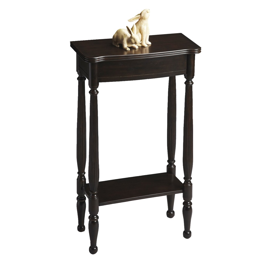 Butler Specialty Masterpiece Rubbed Black Rectangular Console and Sofa Table