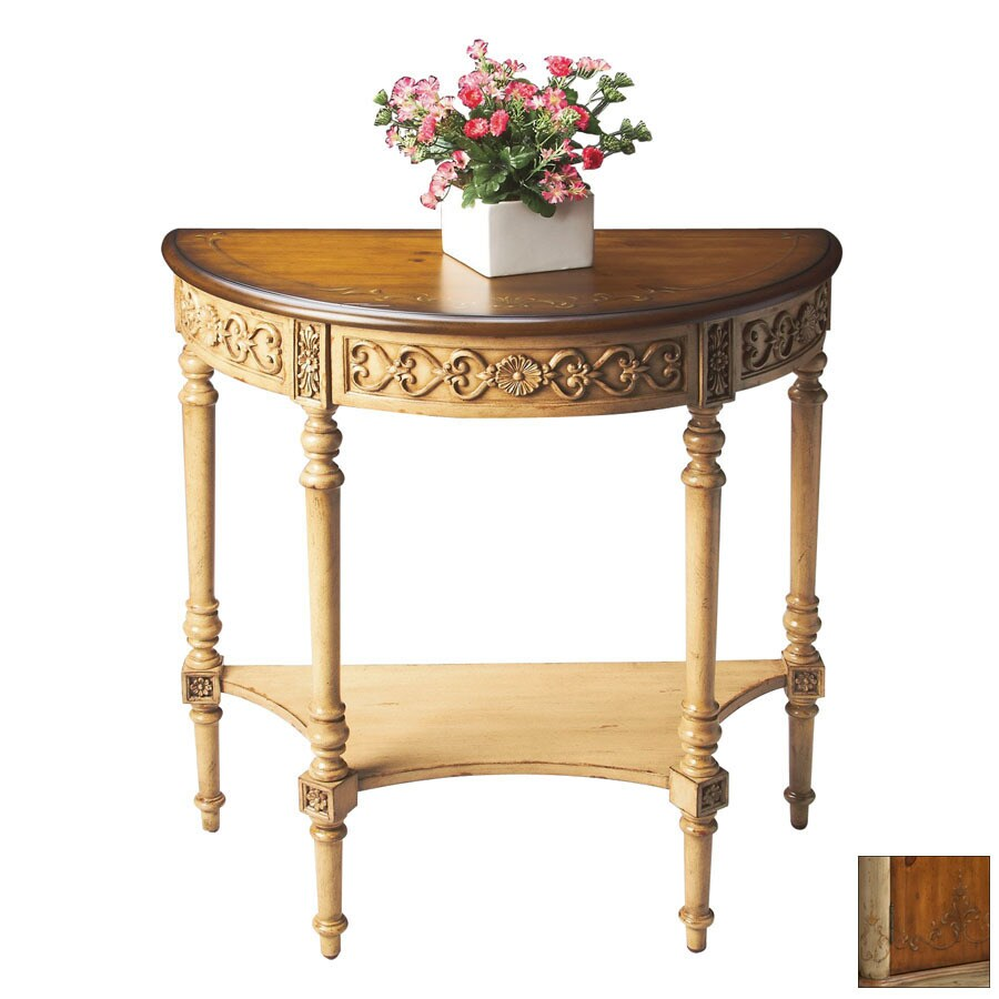 Butler Specialty Artists' Originals Pine and Cream Half-Round Console and Sofa Table