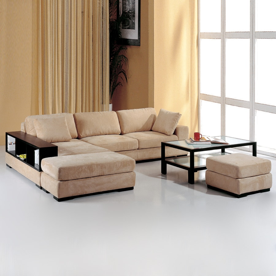 BH Design 2-Piece Beige Sectional Sofa