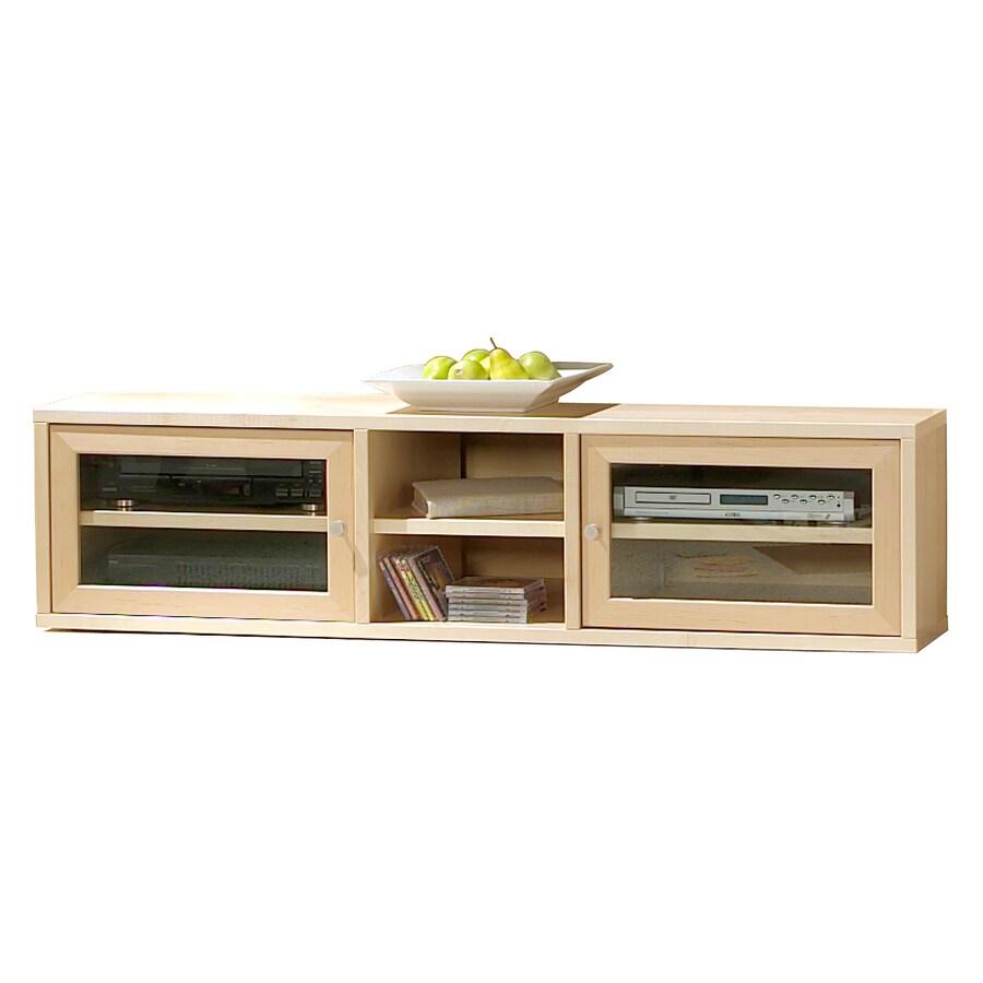 The Ergo Office Maple Rectangular Television Cabinet