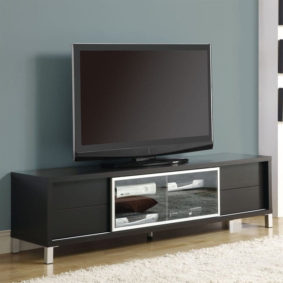 Monarch Specialties Cappuccino Rectangular Television Cabinet
