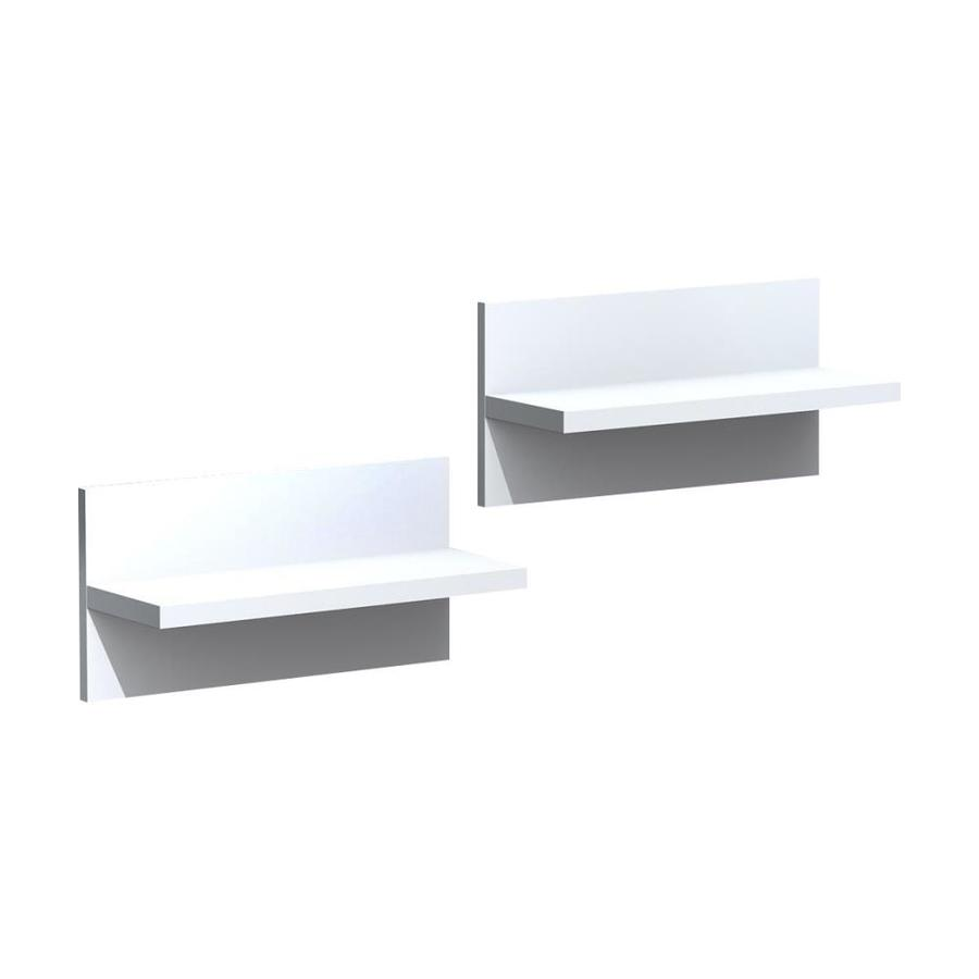 Nexera 18.88-in W x 9.5-in H x 7-in D Wood Wall Mounted Shelving