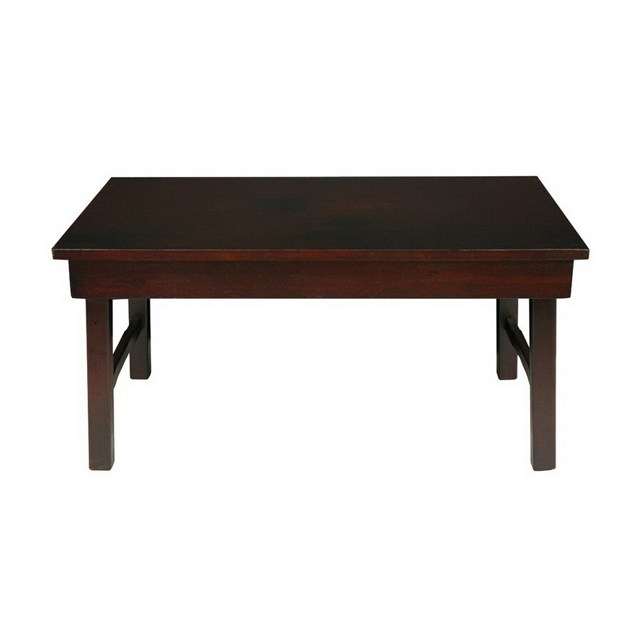 Oriental Furniture Matte Lacquer Elm Rectangular Coffee Table