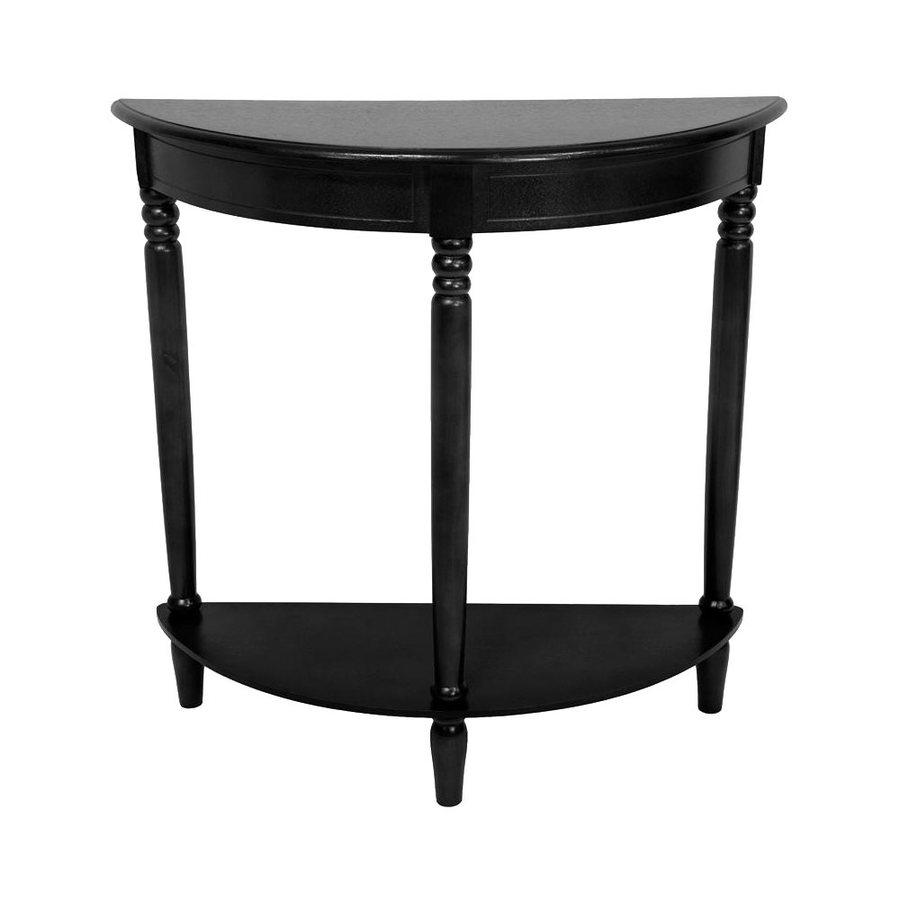 Oriental Furniture Classic Design Black Spruce Half-Round Console and Sofa Table