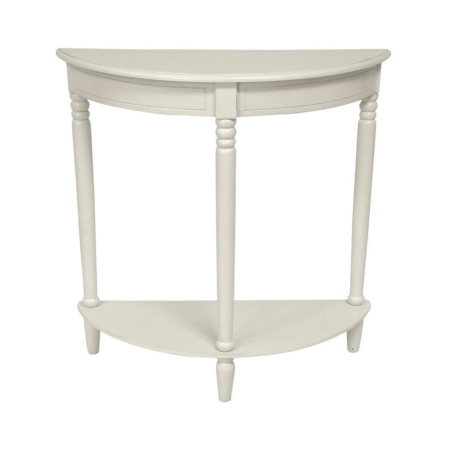 Oriental Furniture Classic Design White Spruce Half-Round Console and Sofa Table