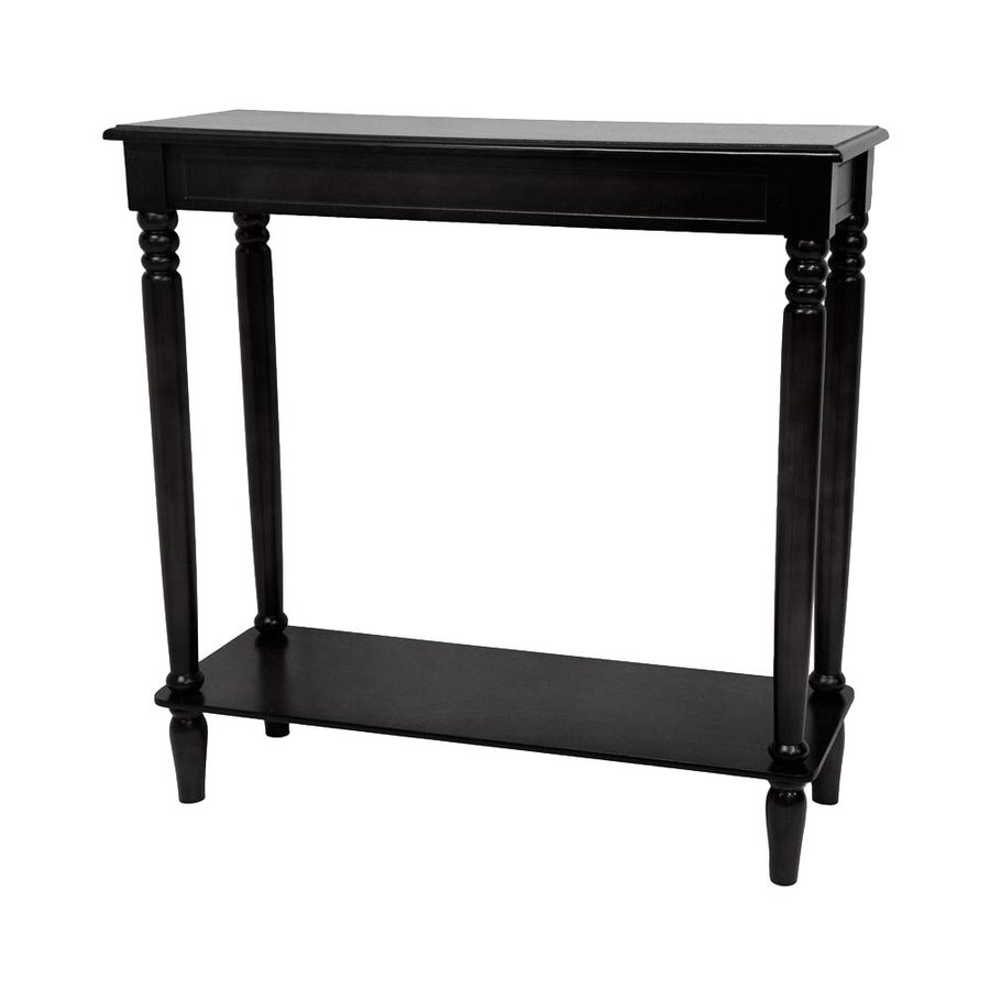 Oriental Furniture Classic Design Black Spruce Rectangular Console and Sofa Table