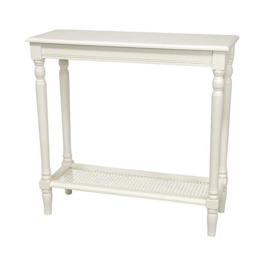 Oriental Furniture Classic Design White Spruce Rectangular Console and Sofa Table