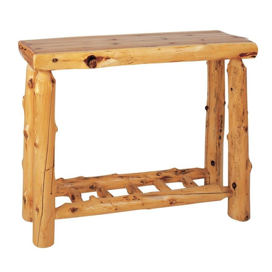 Fireside Lodge Furniture Traditional Cedar Rectangular Console and Sofa Table