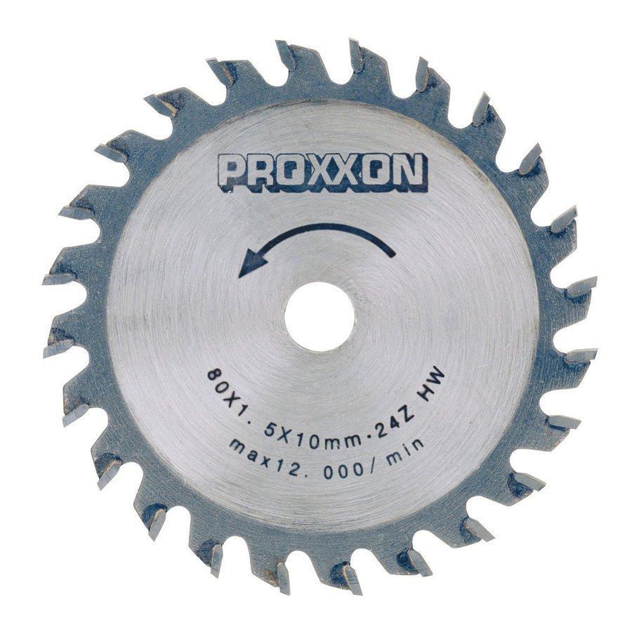 Proxxon 3-9/64-in 24-Tooth Turbo Circular Saw Blade
