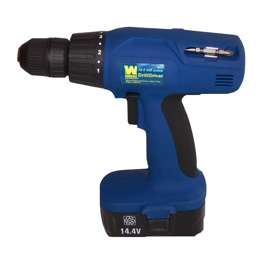 WEN 14.4-Volt Cordless Drill/Driver with 2-Batteries