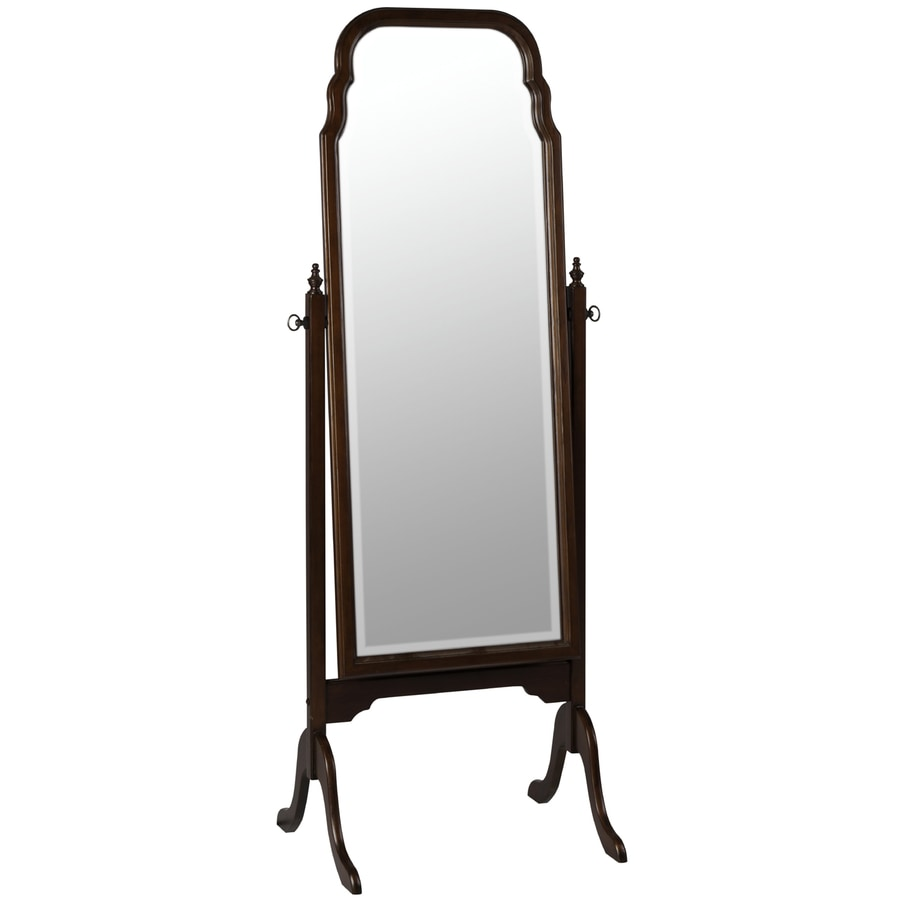 Cooper Classics Queen Anne Cheval 22.25-in x 63-in Cherry Beveled Arch Framed Transitional Floor Mirror