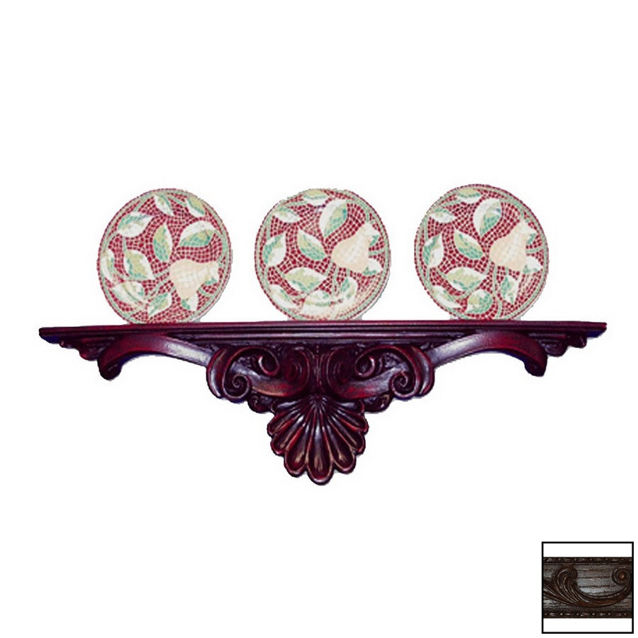 Hickory Manor House 34-in Plastic Wall Mounted Shelving