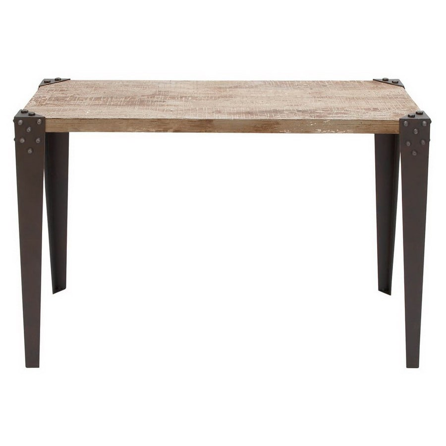 Woodland Imports Brown Metal Rectangular Console and Sofa Table
