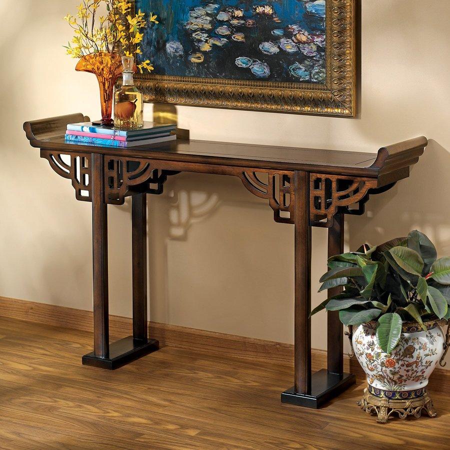 Design Toscano Forbidden City Ebony Rectangular Console and Sofa Table