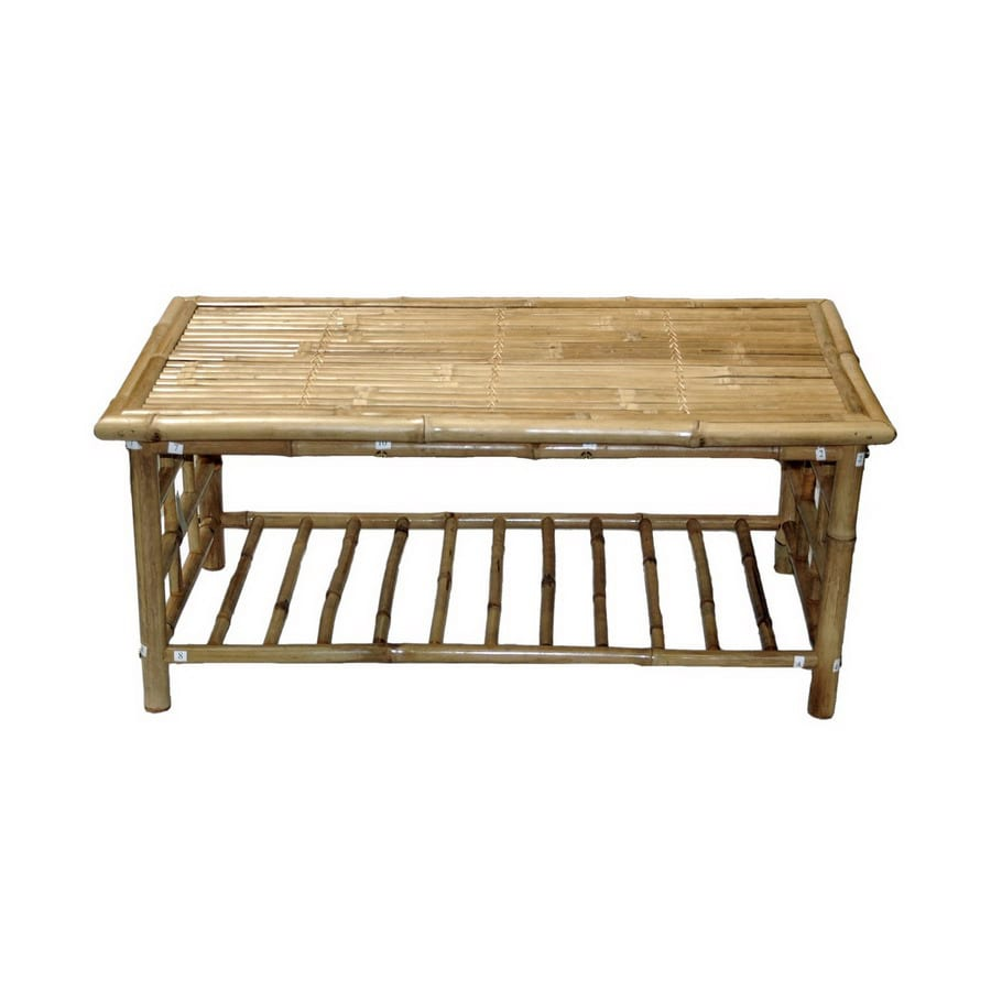 Long Bamboo Coffee Table: Shop Bamboo 54 Bamboo Rectangular Coffee Table At Lowes.com